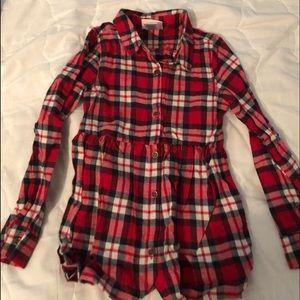 Little Lass Plaid Long Sleeve Shirt - NEW - 6